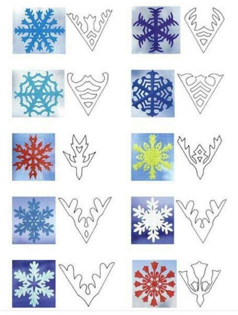 pattern to make a snowflake snowflake patterns christmas pinterest