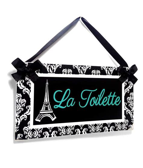 custom bathroom signs custom bathroom door sign eiffel tower black white pool blue