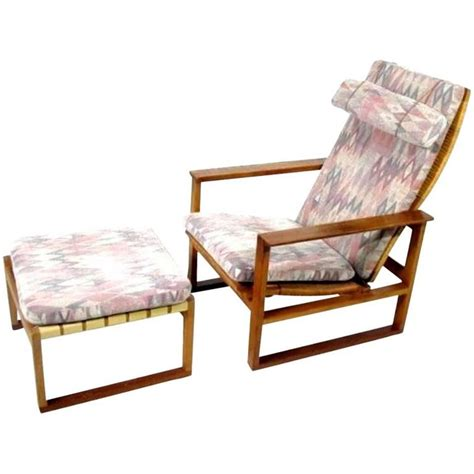 classic sleigh chair lounge chair with foot stool by