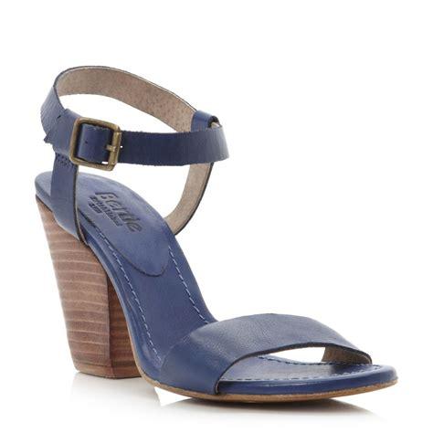 blue block heel sandals bertie halata womens blue block heel leather