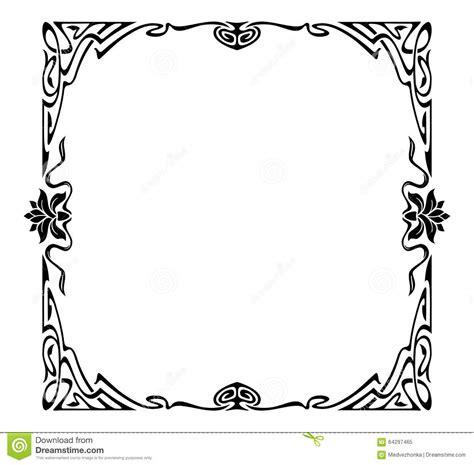 cornici liberty cornice di stile liberty illustrazione di stock