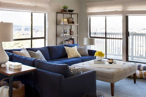 Navy Blue And Gold Living Room by Navy Gold Living Room Living Room With Open
