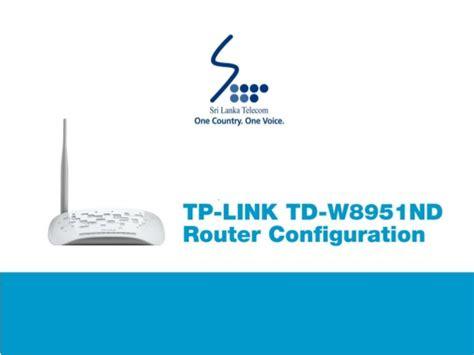 Router Tp Link Td W8951nd Tp Link Td W8951nd Router Configuration Guide