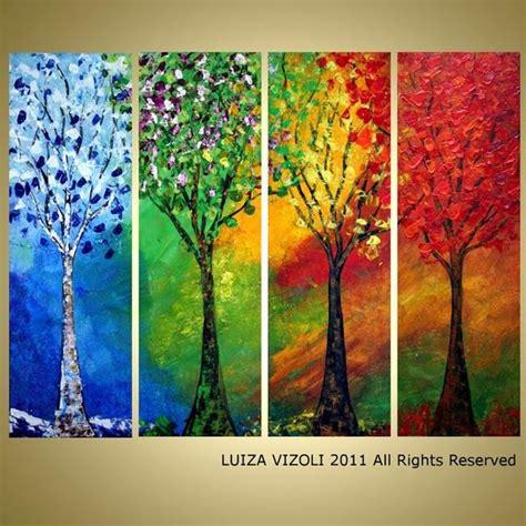 custom painting seasons by luiza vizoli from