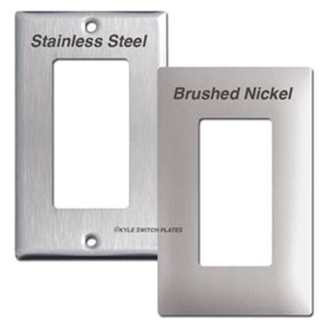 what switch plate finish best matches brushed nickel