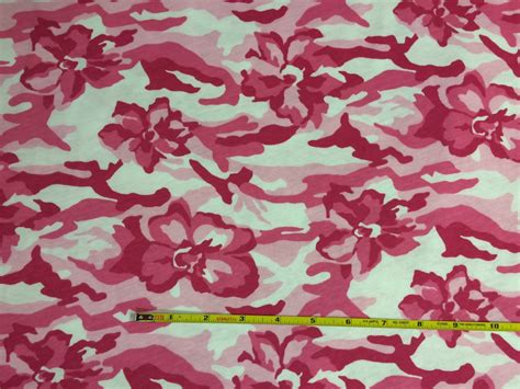 floral jersey knit fabric pink floral camo 100 cotton jersey knit fabric 1 yard