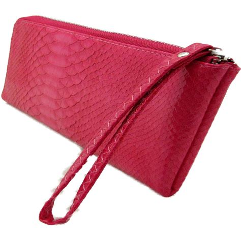 Faux Leather Wristlet Pink Intl faux croc leather sling bag pink wristlet wallet