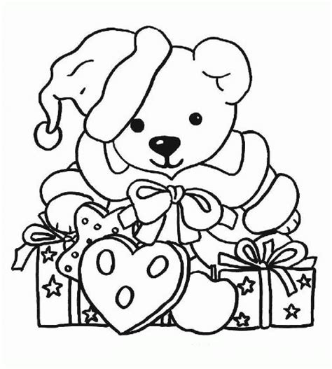 coloring page christmas bear coloring pages 9