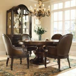 Round Table Dinner Buffet Dining Room Sets With Caster Chairs Best Dining Room
