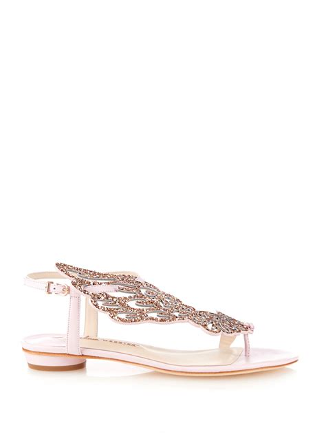 Light Pink Wedges Sophia Webster Seraphina Angel Wing Sandals In Pink Lyst