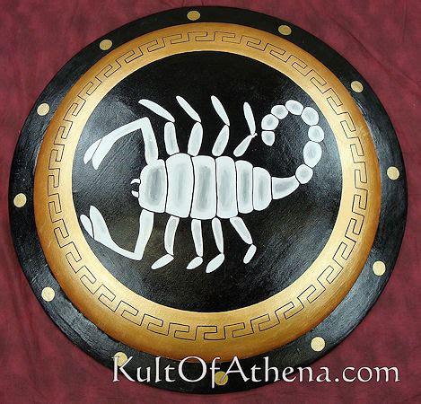 dsc greek painted hoplite shield scorpion