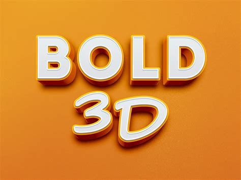 bold 3d text effect freebies fribly