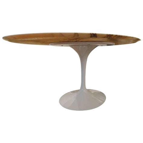 eero saarinen marble calacatta top oval dining table for