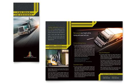 word stationery template free trucking amp transport tri fold brochure template word