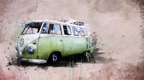 volkswagen classic van wallpaper vintage cars wallpapers best wallpapers
