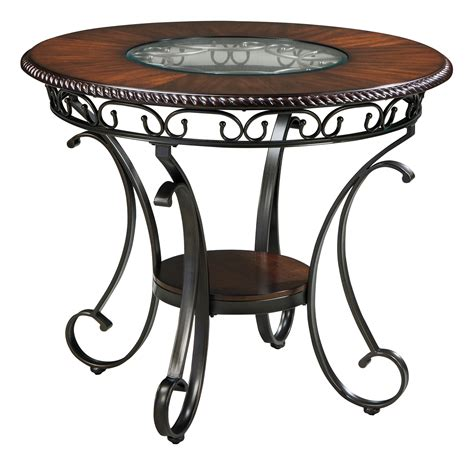 counter table glambrey round dining room counter table from ashley d329