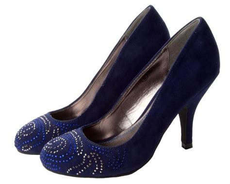 womens navy blue faux suede evening wedding prom