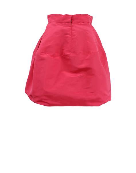 Pink Babol Hem lyst oscar de la renta high waist hem skirt in pink