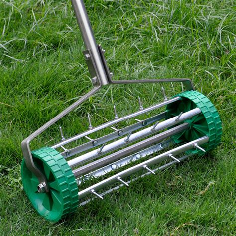 heavy duty lawn garden aerator roller wheel comxuk