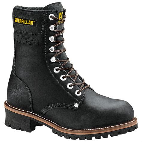 steel toe boots s cat 9 quot steel toe loggers 98936 work boots at