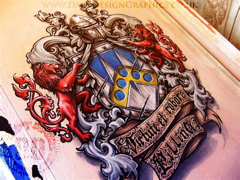 a colour coat of arms dark design graphics graphic