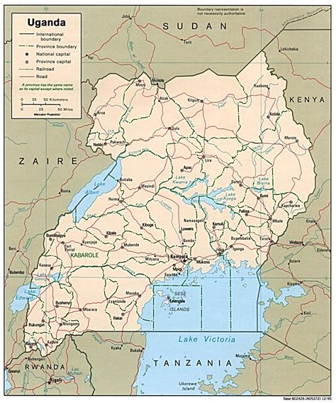 map of uganda map of uganda