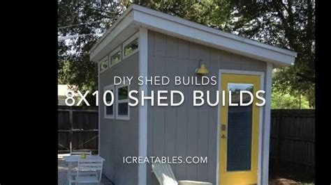 How To Build A 8x10 Shed by 8x10 Shed Plans From Icreatablestv