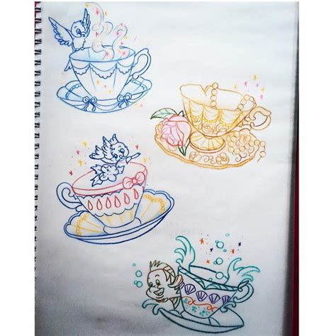 tattoo disney princess princess teacups available luckycattattoo