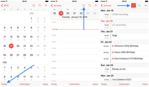 Calendar View How To Access List View In Iphone Calendar App