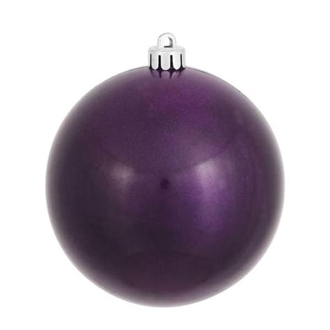 plum colored christmas balls vickerman 393239 purple colored tree ornament