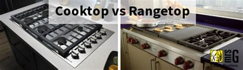 cooktop  rangetop    difference