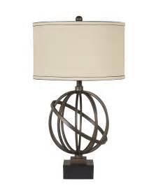Metal Table Lamp Connor Textured Bronze Black Metal Table Lamp Set
