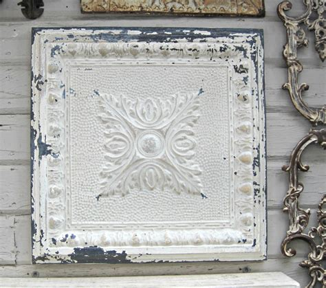 framed antique ceiling tin tile vintage metal tile rustic