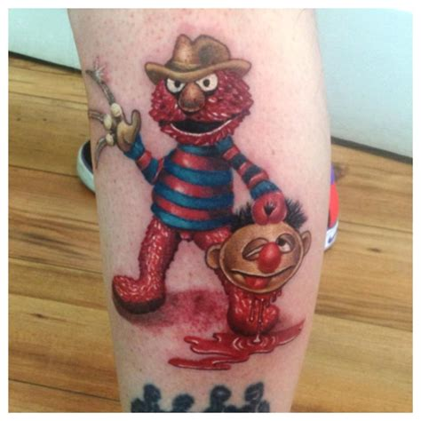 elmo street tattoo by malsem on deviantart