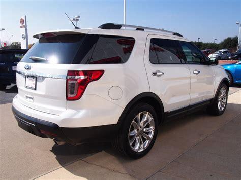 white platinum metallic tri coat ford explorer suvs theeaglecom