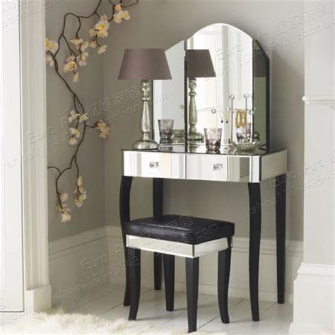 Modern Bedroom Vanity Dressing Table Recalling Western Style Rustic Makeup Vanity Mirror