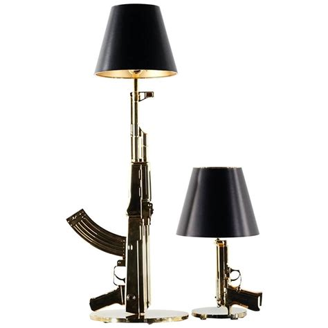 Statement Lighting by Philippe Starck Quot Bedside Gun Quot Lamp Flos 18 Karat Gold At