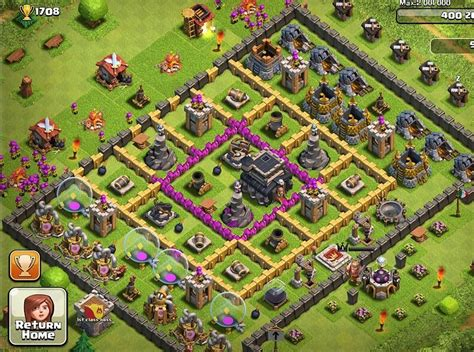 layout level 9 clash of clans 26 clan war base design for winner 2015 in clash of clans