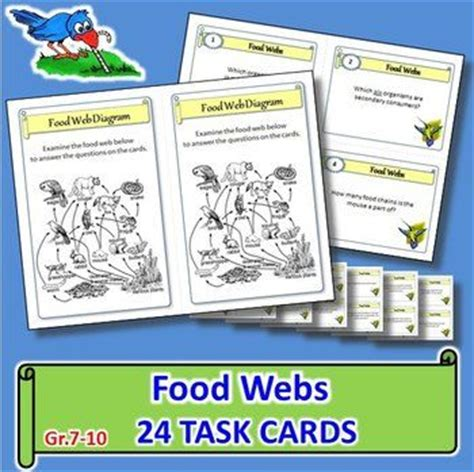 task card answer template food webs task cards with editable template student