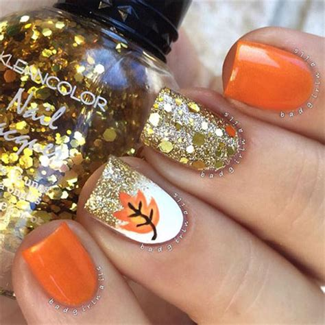Easy Nail Designs For Fall 12 easy autumn nail designs ideas 2016 fall nails