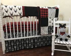 Baby Boy Plaid Bedding Sets Buffalo Check Etsy