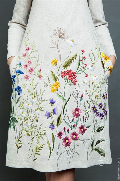 Flowers Embroidery Dress 25 best ideas about flower embroidery on