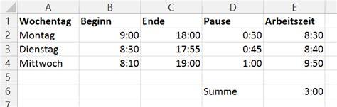 excel format zeit millisekunden wie kann man in ms excel arbeitsstunden 252 ber die zeit