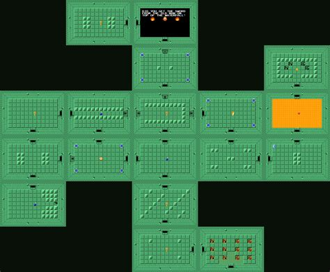 legend of zelda map dungeon 1 the legend of zelda dungeon maps