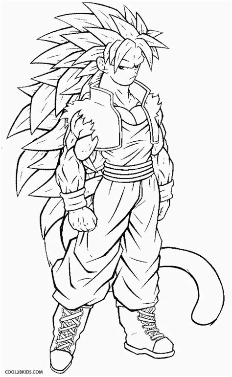 Printable Goku Coloring Pages For Kids Cool2bkids Coloring Pages Goku