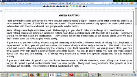preguntas en ingles traductor texto sobre rafting examen acceso cfgs ingl 233 s youtube