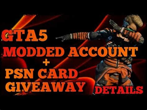 Psn Account Giveaway - full download offical gta 5 modded account giveaway announcement closed