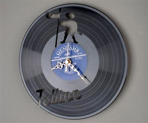 clock made of clocks clocks made from vinyl records