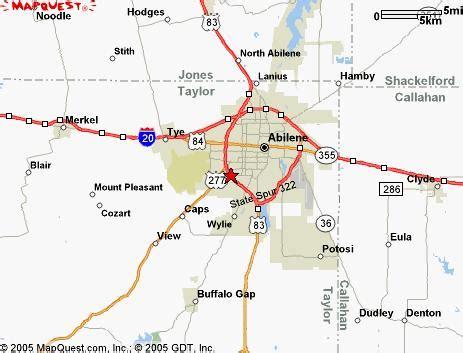 map of abilene abilene map