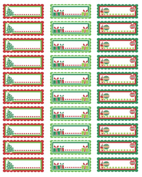 Free Avery Christmas Address Label Templates
